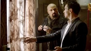 John Travolta and Jonathan Rhys Meyers in the Euro-action film from producer Luc Besson and director Pierre Morel