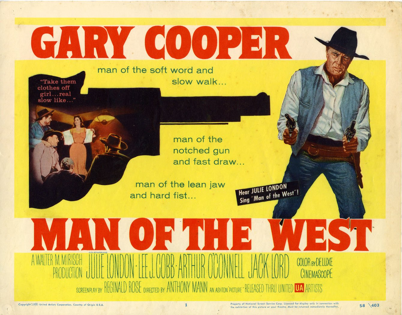 Gary Cooper, Julie London, and Lee J. Cobb star in the 1958 western directed by Anthony Mann