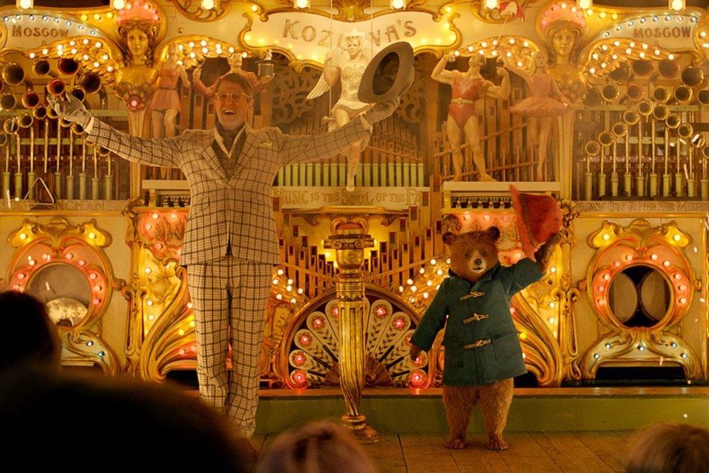 Hugh Grant and Paddington in the delightful family movie