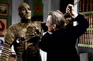 Christopher Lee and Peter Cushing in the 1959 Hammer horror classic directed by Terence Fisher
