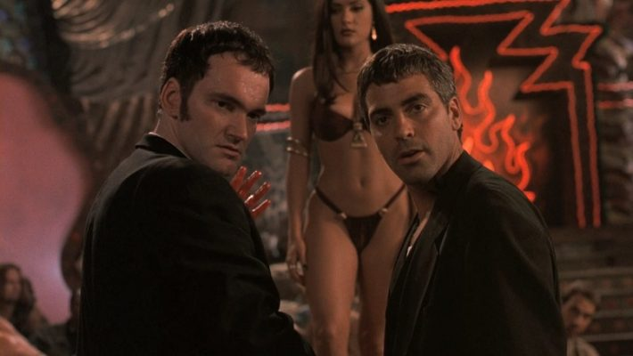 Quentin Tarantino and George Clooney in the film from director Robert Rodriguez